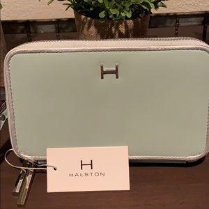 Halston double zip wallet
